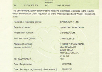 Waste Transfer Licence